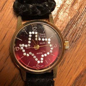 Accessories - Vintage Lone star state Texas cz watch